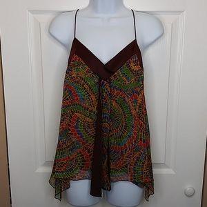 Diane von Furstenberg Silk Asymmetrical Camisole